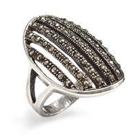 טבעת כסף משובצת מרקזטים RG5904   תכשיטי כסף 925   טבעות כסף