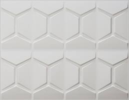 """חיפויי קיר תלת מימדי דגם Comb בגודל 62.5*80 ס""""מ"""