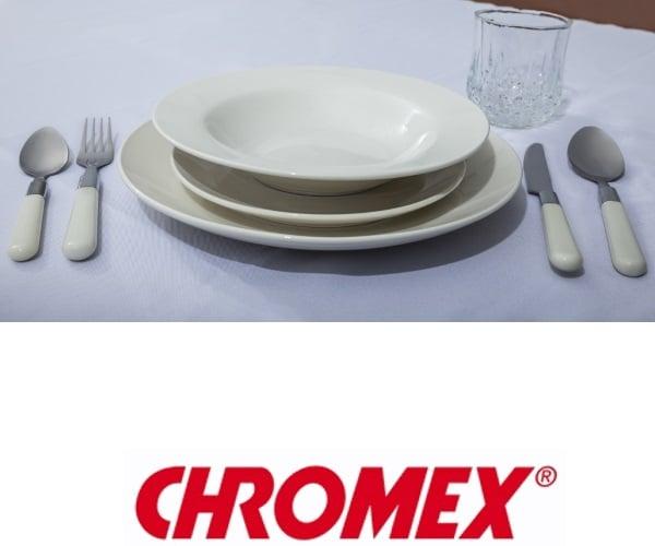 CHROMEX מערכת כלי אוכל 48 חלקים  דגם CH-3220