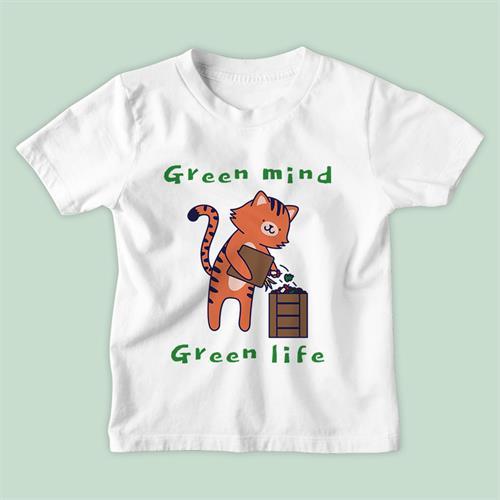 חולצת ילדים Green Mind Green Life