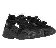 Replay נעל שחורה לוגו לבן מידות 21-39