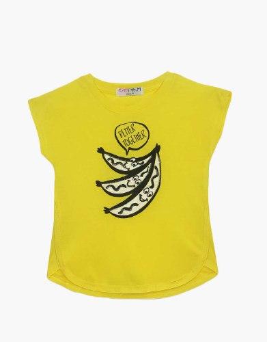 חולצה בנות טריקו מעוצבת בננות