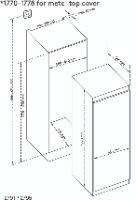 מקפיא לקאזה 7 מגירות אינטגרלי מלא LACASA LC2791