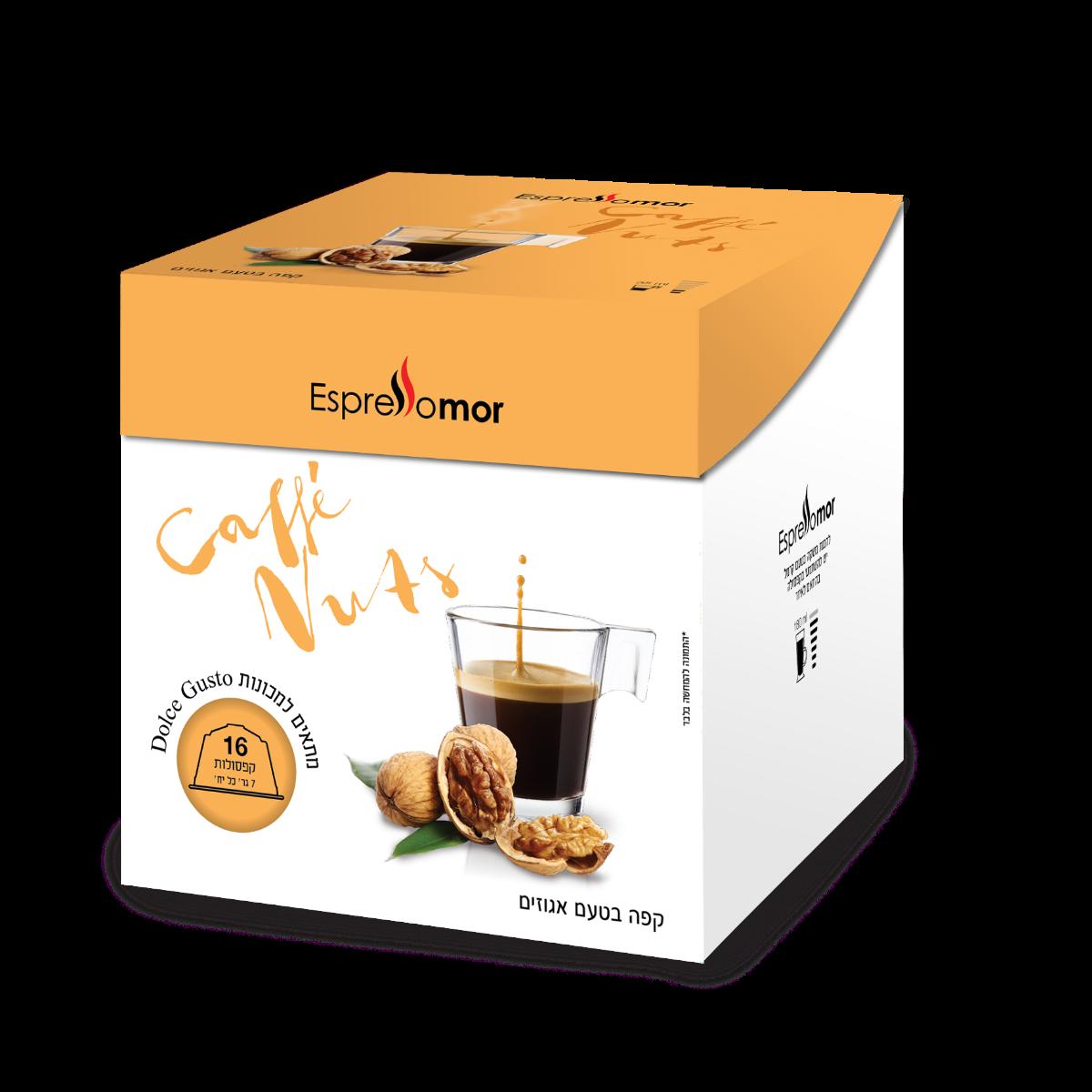 96 קפסולות קפה בטעם אגוז לוז