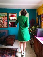 שמלה חורפית בצבע מנצח מידה M
