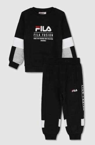 Fila חליפת פוטר שחור אפור מידות 2-8