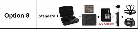 OPTION 8 - מצלמת אקשן  EKEN 4K דגם H9 מקורית! Ultra HD 4K WiFi 1080P/30fps
