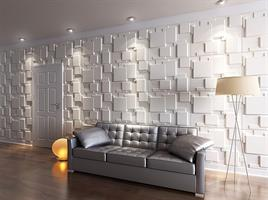 """חיפויי קיר תלת מימדי דגם Choc בגודל 62.5*80 ס""""מ"""