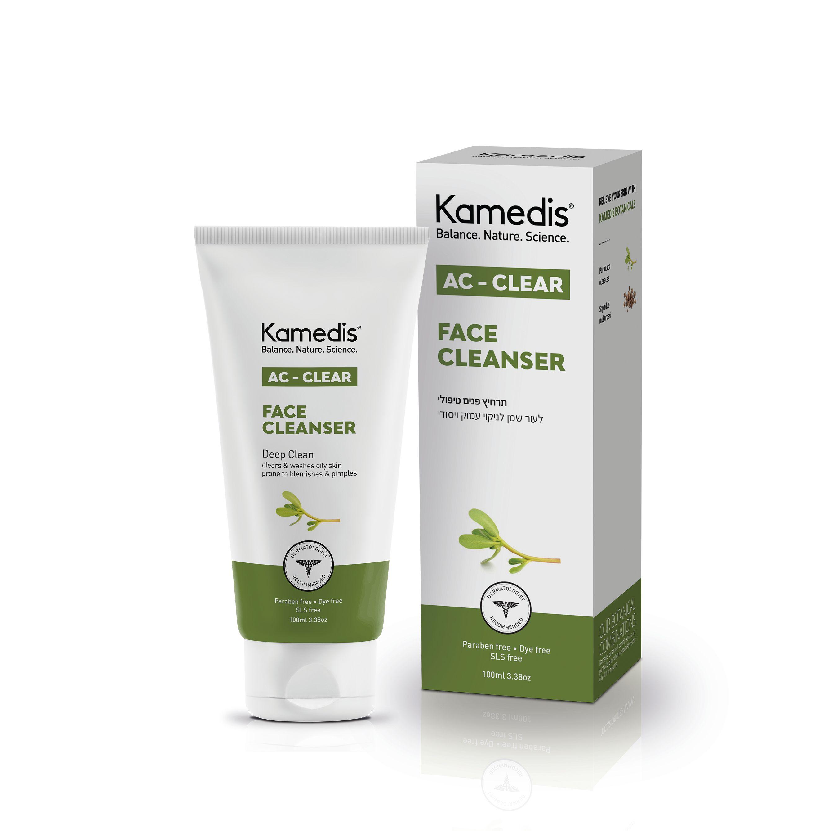 ג'ל ניקוי טיפולי לפנים לעור שמן הנוטה לפצעונים AC - CLEAR FACE CLEANSER