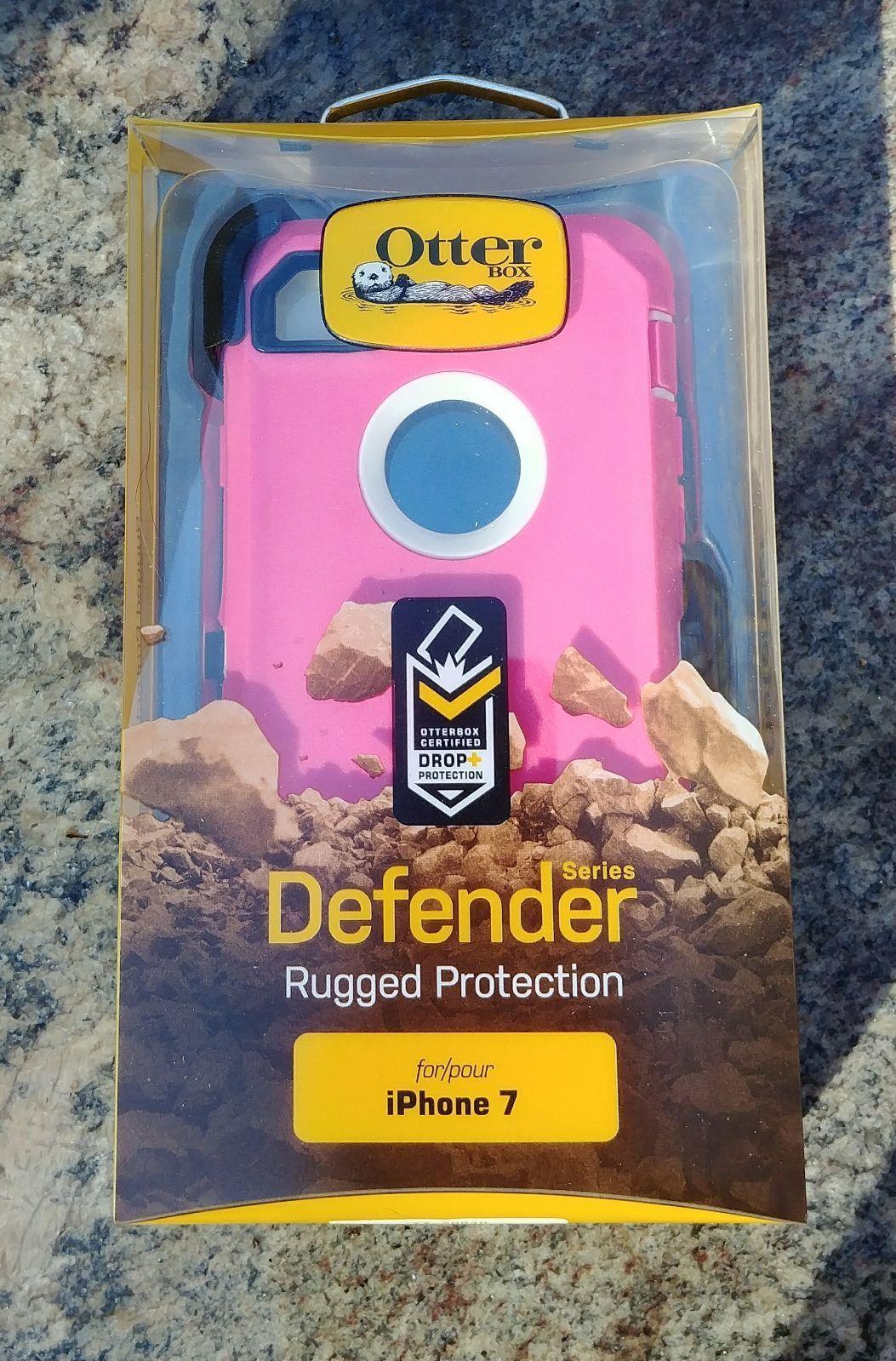 Otterbox defender תלת שכבתי (ורוד\לבן) לאייפון 7