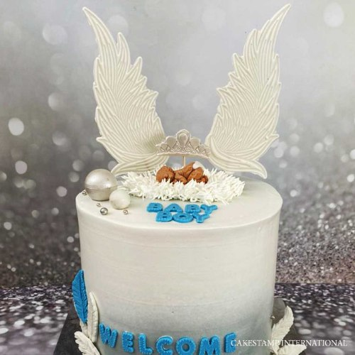 2021 Angle Wings 1 Tall Cake Topper  Mold | Flexible Polymer Mold | Chocolate Mold