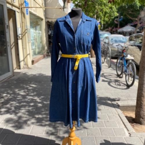 שמלת ג'ינס משגעת עם כיסים ושרוולים ארוכים מידה S/M