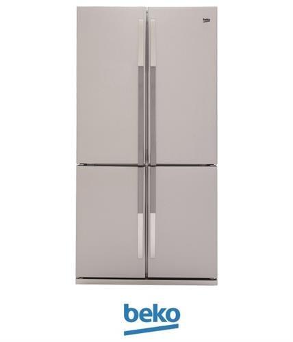 beko מקרר 4 דלתות 552 ליטר דגם GNE104611X מתצוגה !