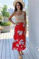 חצאית מעטפת פרח גדול פריז
