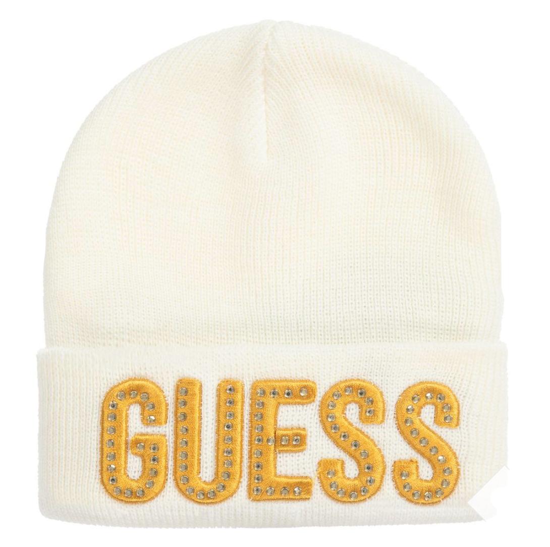 כובע GUESS קרם וניטים תינוקות - 0-24 חודשים