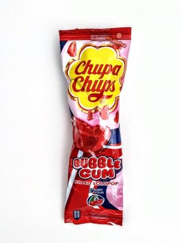 Chupa Chups Bubble Lollipop Cherry