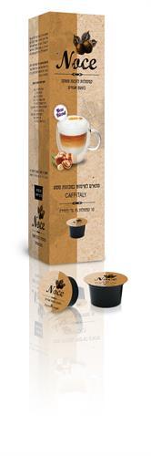 10 קפסולות אגוזי לוז תואם קפיטלי nocciola אספרסו מור