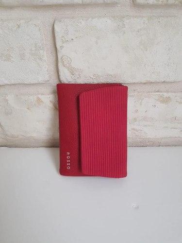 ארנק דמוי עור קטן אדום 4036