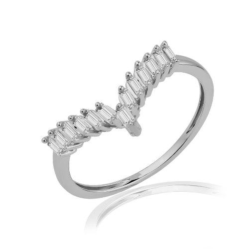 טבעת זהב 14 קראט 0.24 קראט יהלומים 811923 - מחיר מבצע!