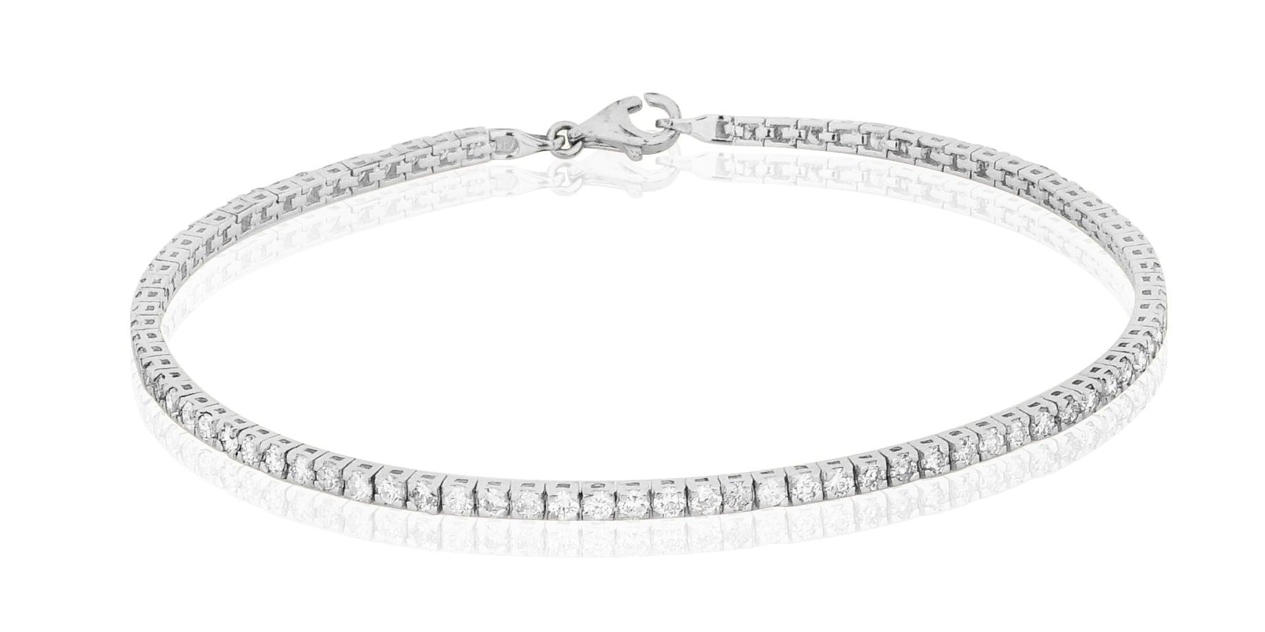 צמיד טניס יהלומים לבנים 2.46 קראט