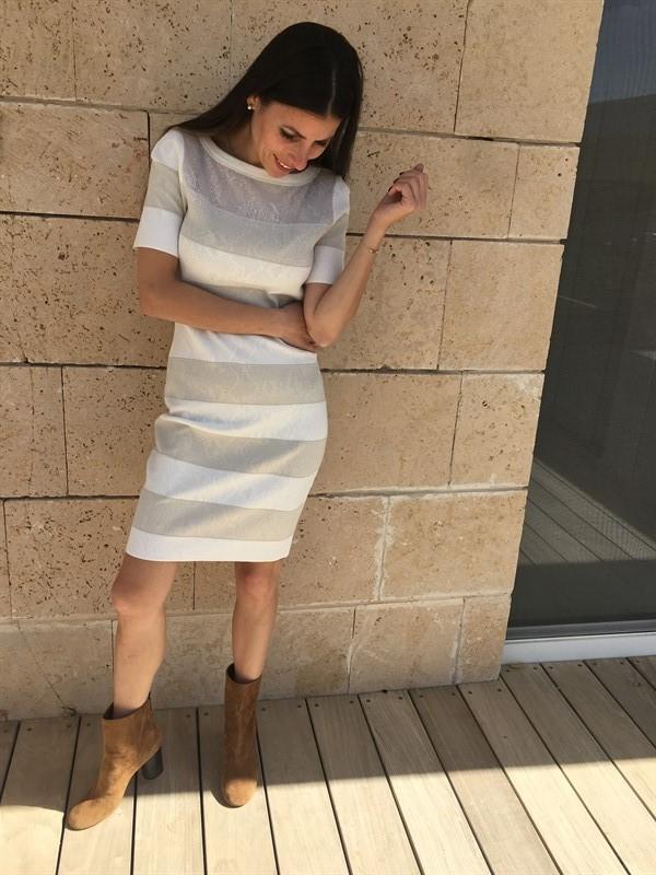 MARCCAIN שמלת פסים