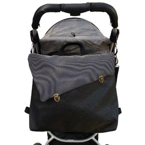 תיק עגלה, לאם ולילד, תיק החתלה, שחור עם רשת