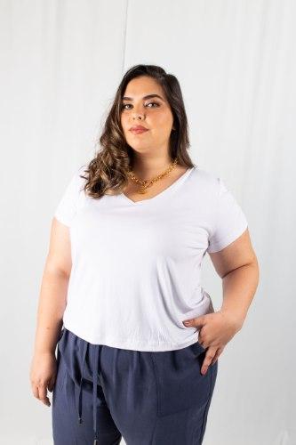 חולצת T ג'וליין לבנה