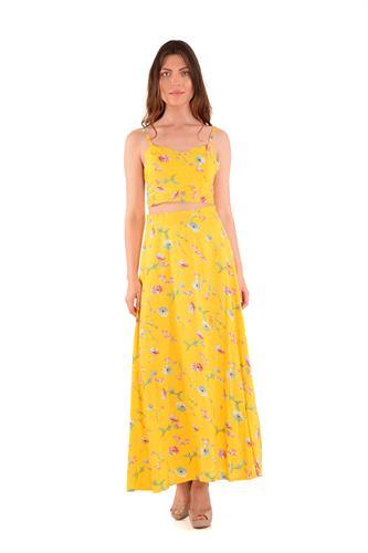 חצאית מוריה צהובה