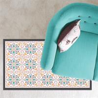 שטיח PVC ויניל לעיצוב הבית - אפור כתום