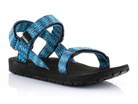 סנדלי שורש קלאסי  -צבע משולשים כחול