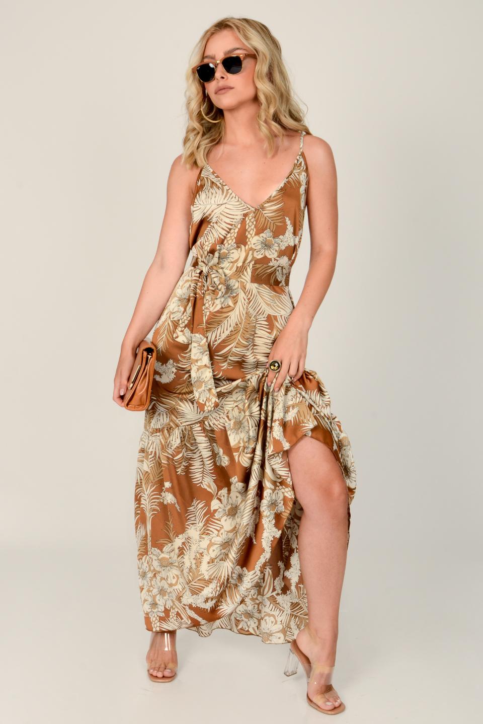 שמלת  ערב מיקונוס חום