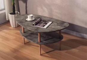 שולחן סלון דמוי בטון כפול