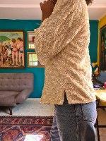 ג'קט פאייטים בצבע שמנת מידה L/XL