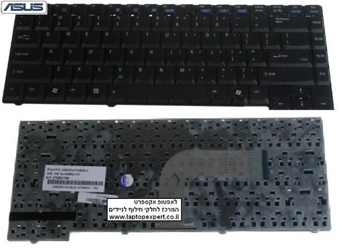 מקלדת למחשב נייד אסוס החלפת מקלדת למחשב נייד אסוס ASUS A3V R20 M9 Z8 A7 Laptop Keyboard 9J.N5382.F01 / 04GN9V1KUSA2