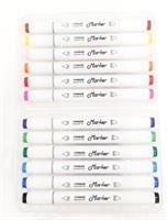 מארז 12 טושים צבעוניים - דו צדדיים