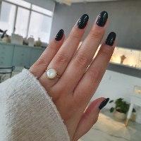 טבעת זהב עם אבן חן מונסטון/אוניקס