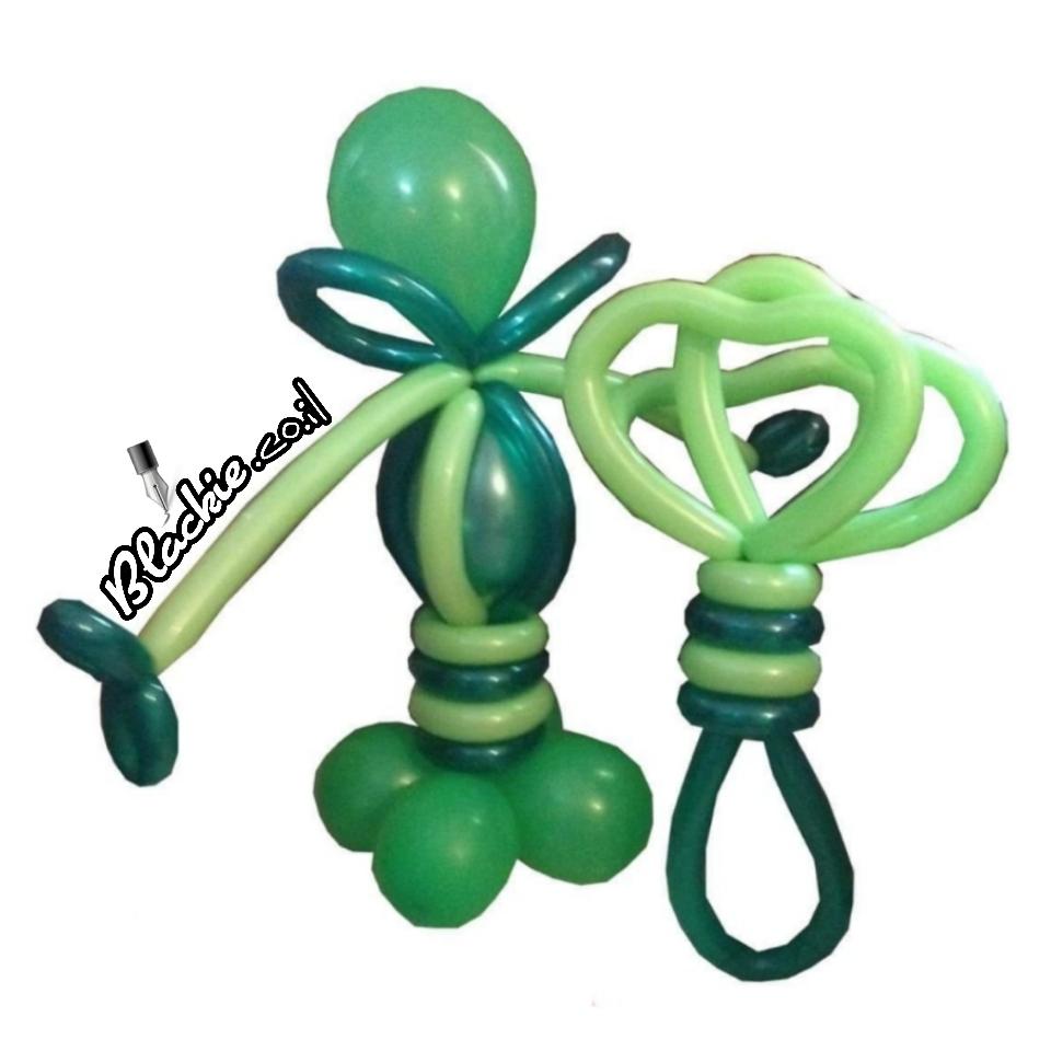 בלון ירוק פטריק ☘ - Patrick Green Ballon