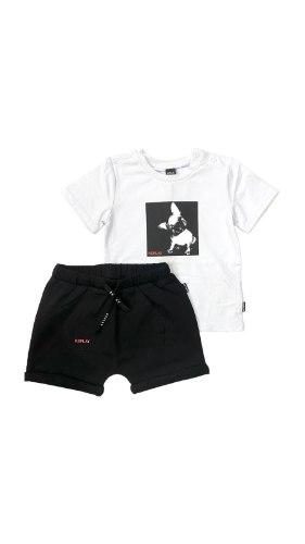 חליפת תינוקות REPLAY שחור לבן