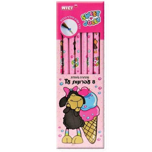 8 עפרונות עץ ניקי