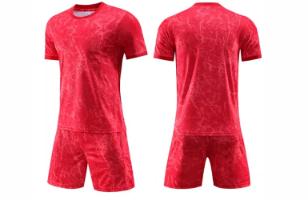 חליפת כדורגל צבע אדום (לוגו+ספונסר שלכם)