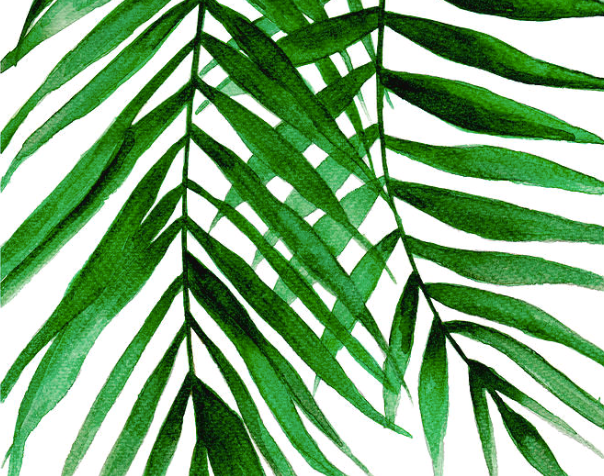 Tropical leaves Texture Mat