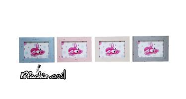 """הדפס גראפי """"דפוס"""" חזרזירון 19×15 מסגרת ישנה"""