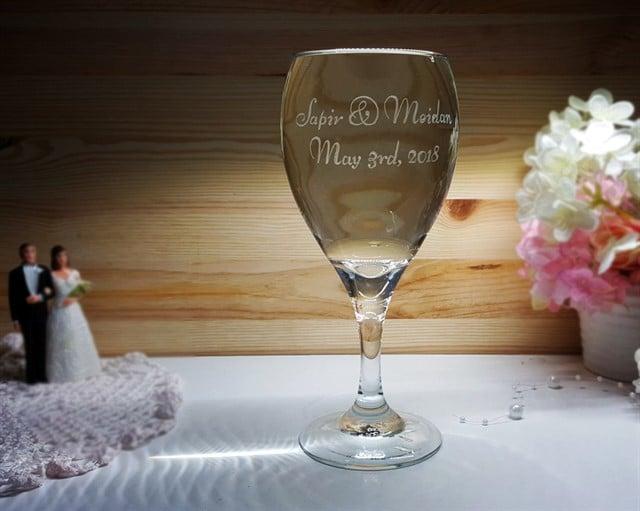 כוס חופה באנגלית, ללא עיטורים
