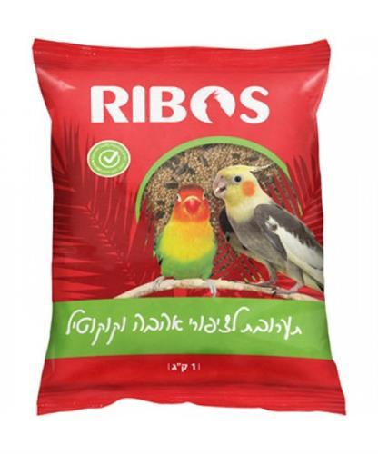 """ריבוס תערובת לציפורי אהבה וקוקטיילים 1 ק""""ג"""