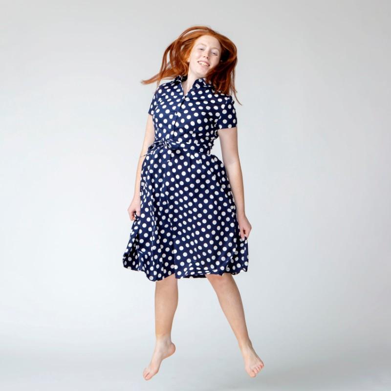 שמלת POLKA DOTS