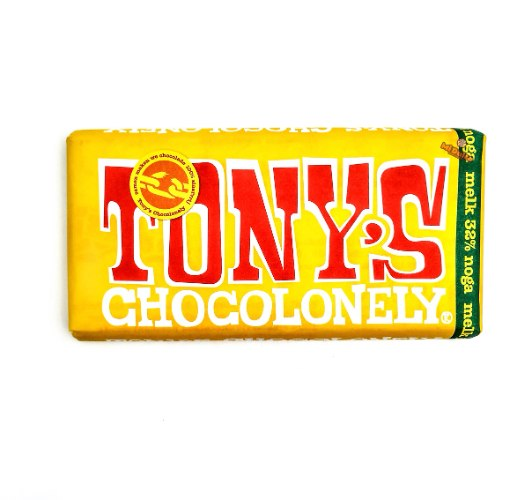 Tony's Chocolonely שוקולד חלב שקדים,דבש ונוגט (100% free slave)