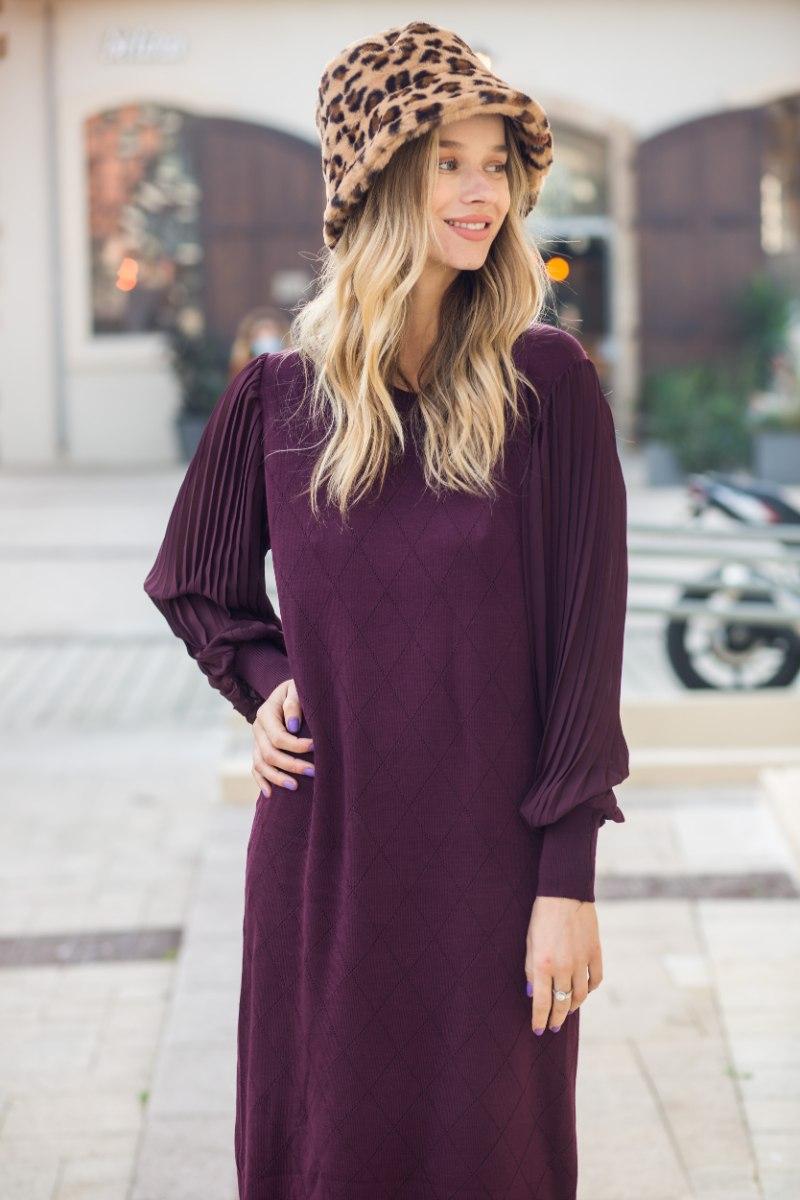 שמלת נואלה שילוב שרוול שיפון