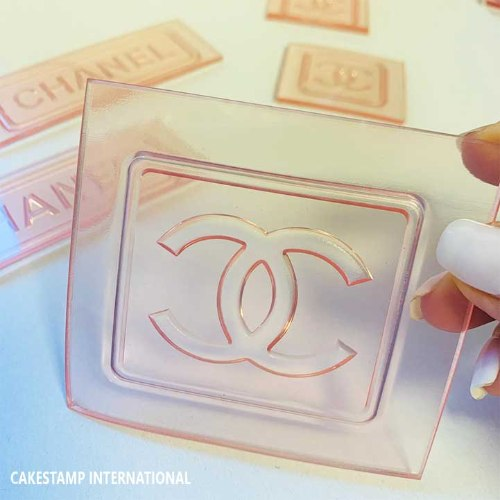 Chanel Embossed Stamp To Chocolate And Fondant Use | Chanel Mold For Cake Decorating