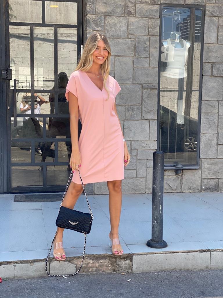 שמלת נויה- ורוד THOMAS