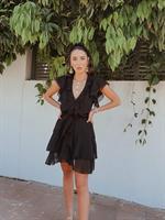 שמלת איה שיפון - שחורה